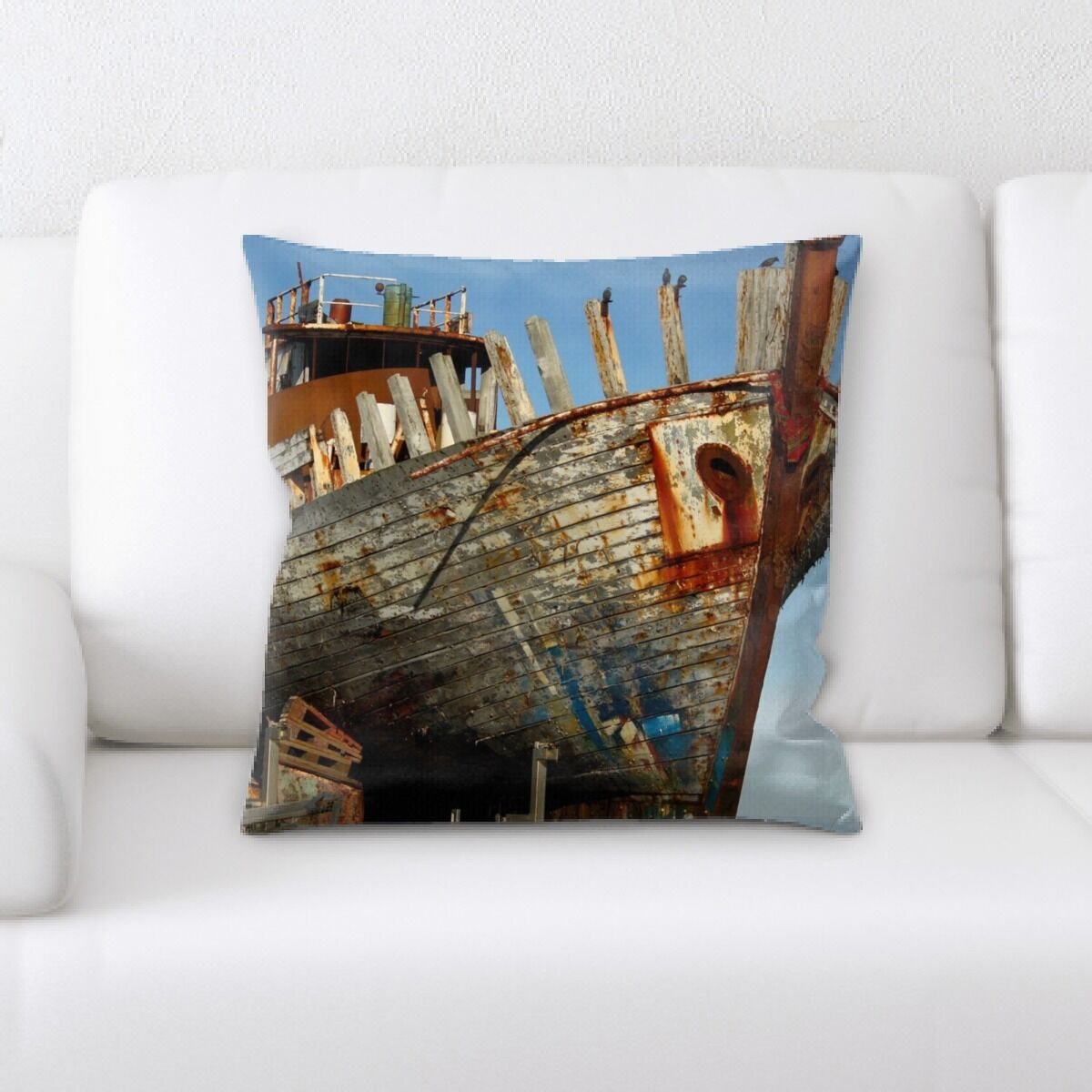 Paul Old and Abandoned (144) Throw Pillow