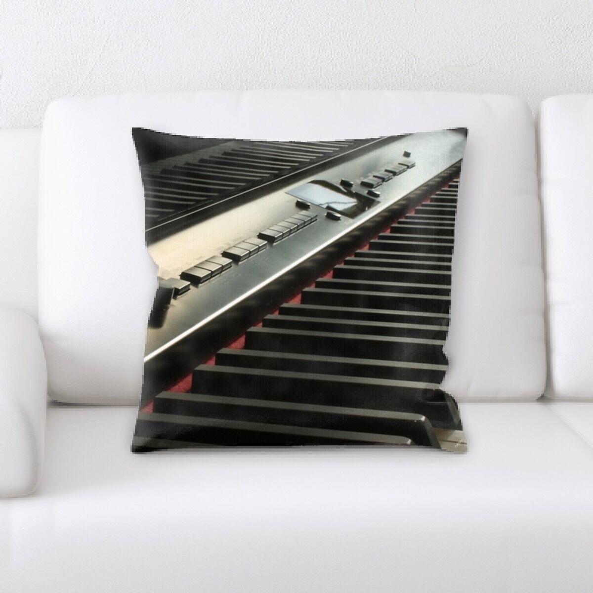 Piano Close up 4 Throw Pillow
