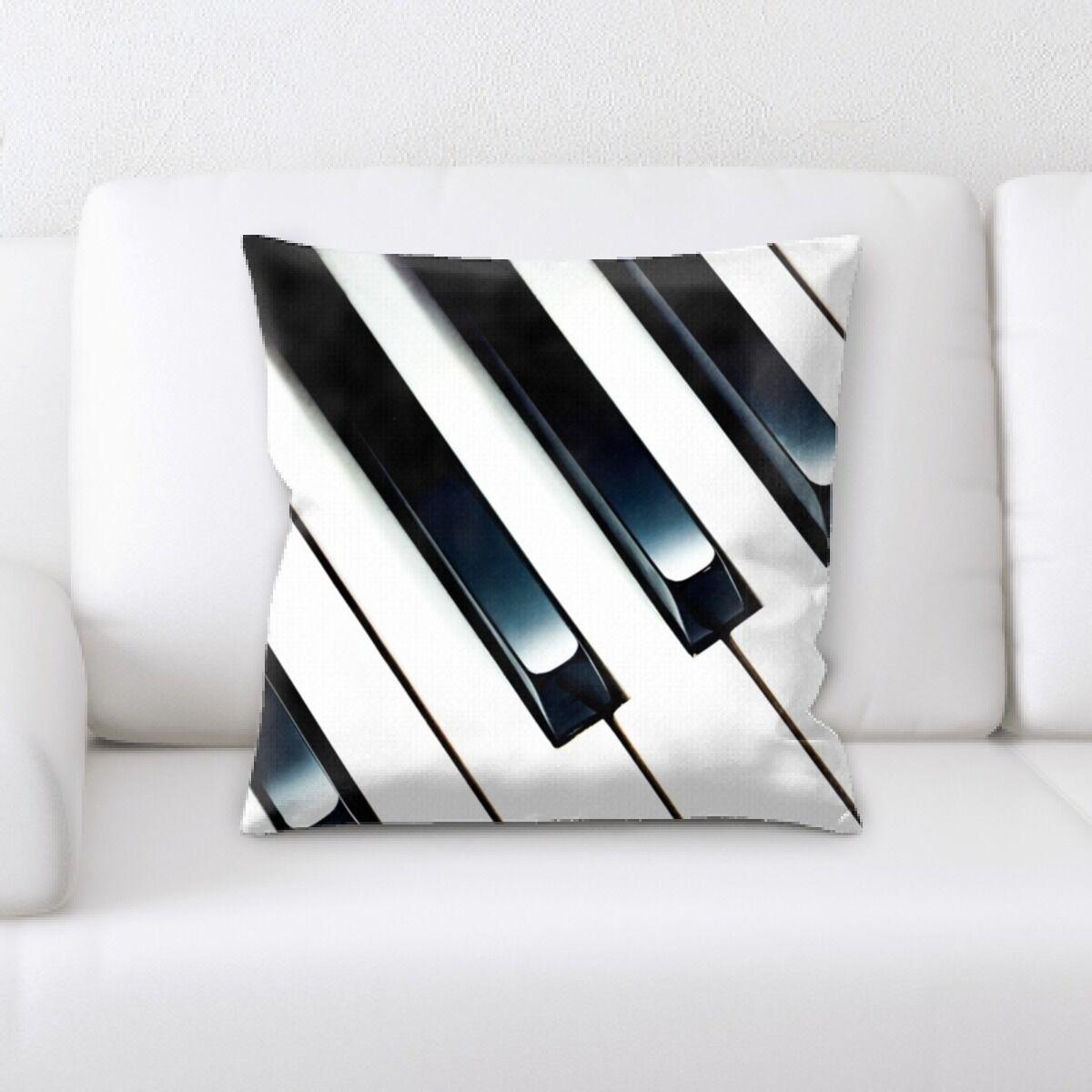 Piano Close up 5 Throw Pillow