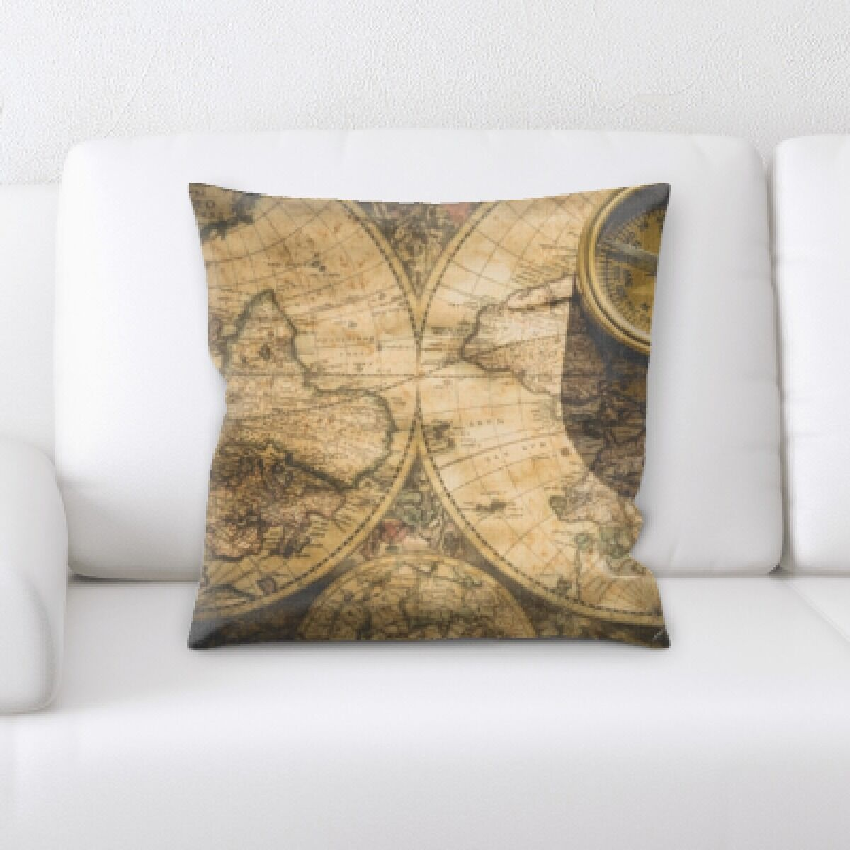 Wyton Map and a Campus Throw Pillow