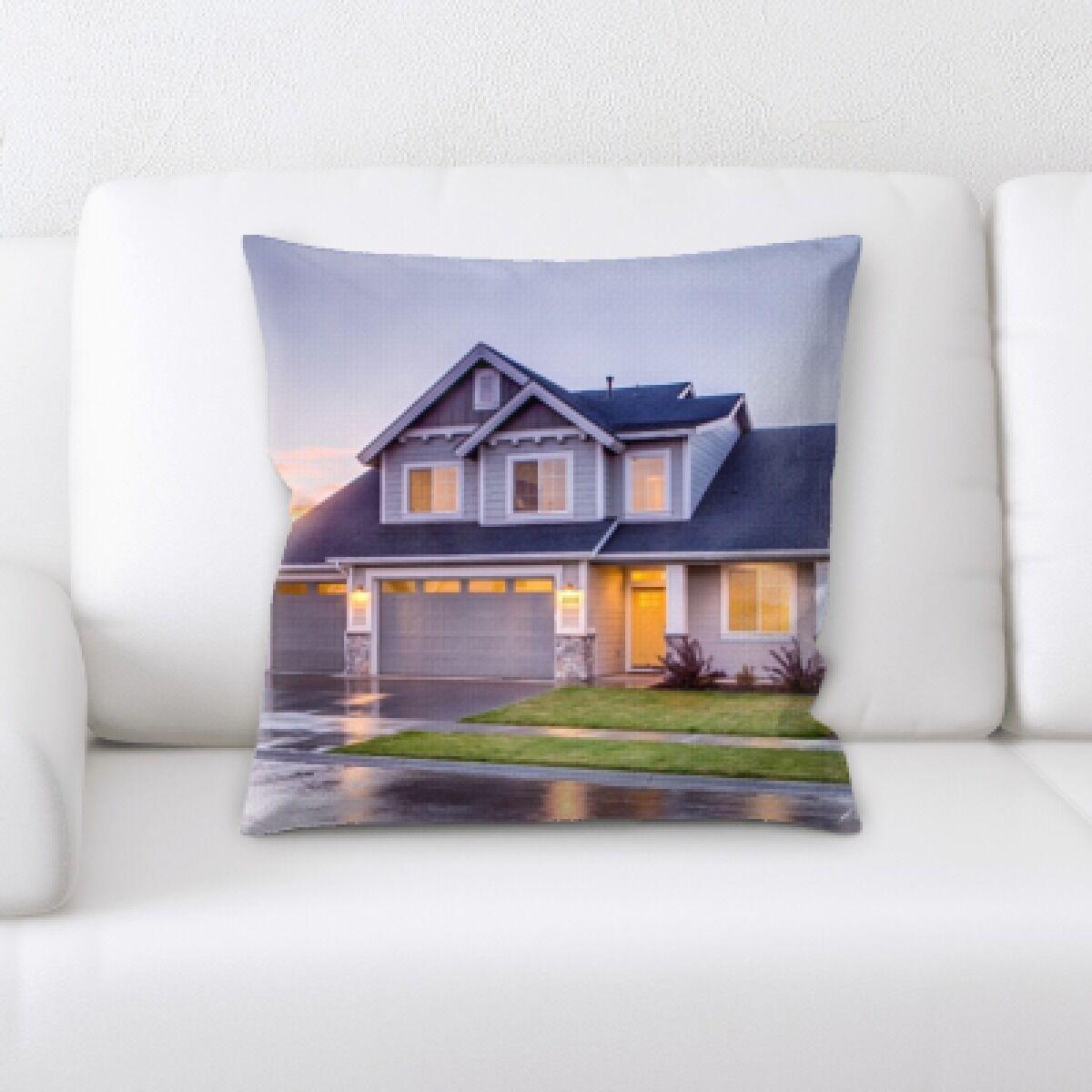 Maegans Houses (3) Throw Pillow