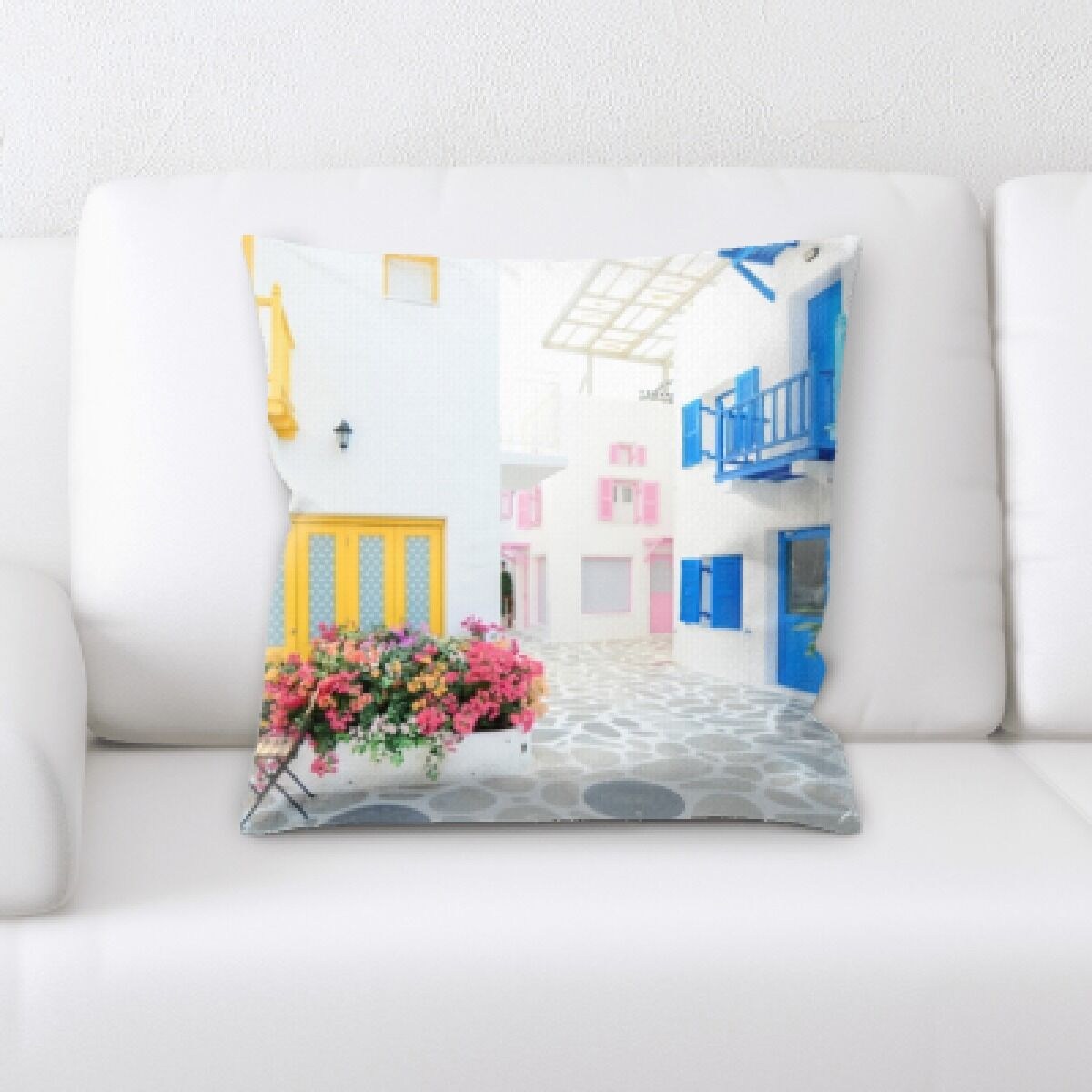 Maegan Houses (4) Throw Pillow