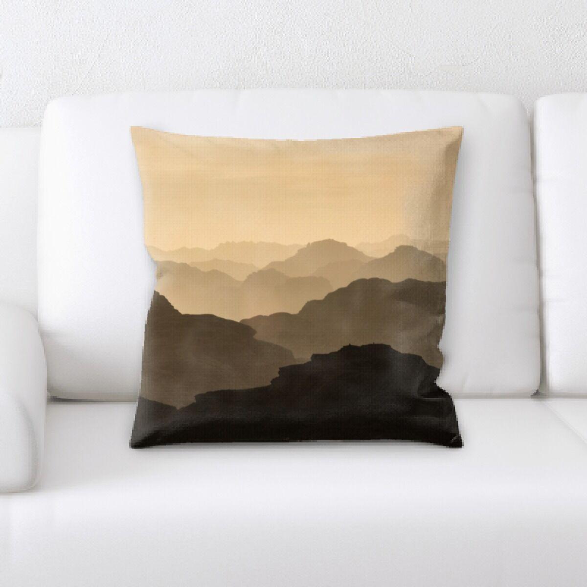 Oneybrook Mountain and Cliffs (142) Throw Pillow