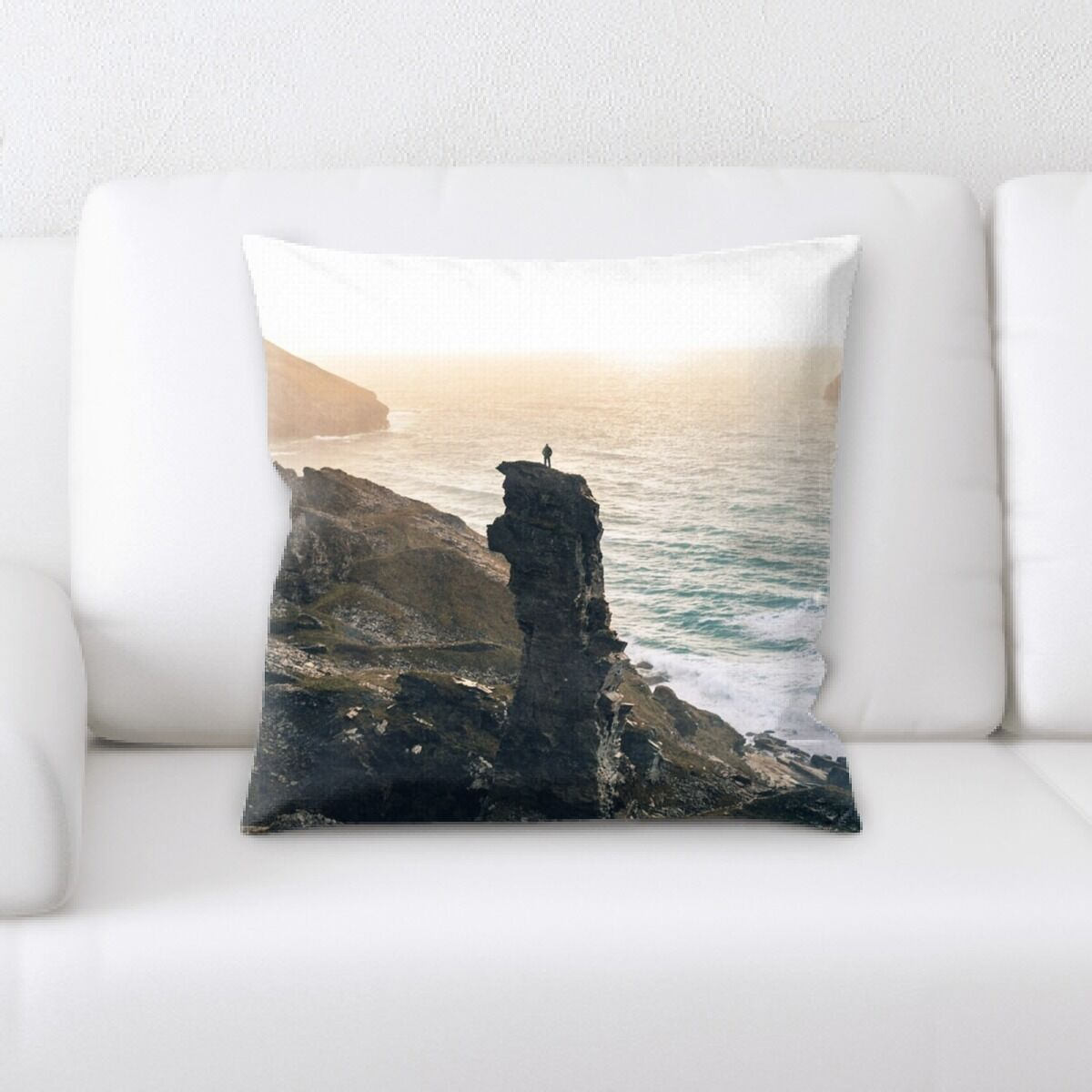 Lusk Mountain and Cliffs (150) Throw Pillow