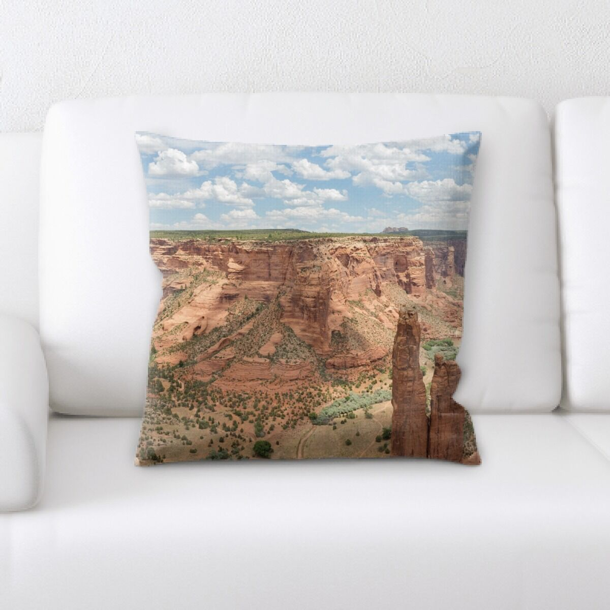 Lacey Mountain and Cliffs (18) Throw Pillow