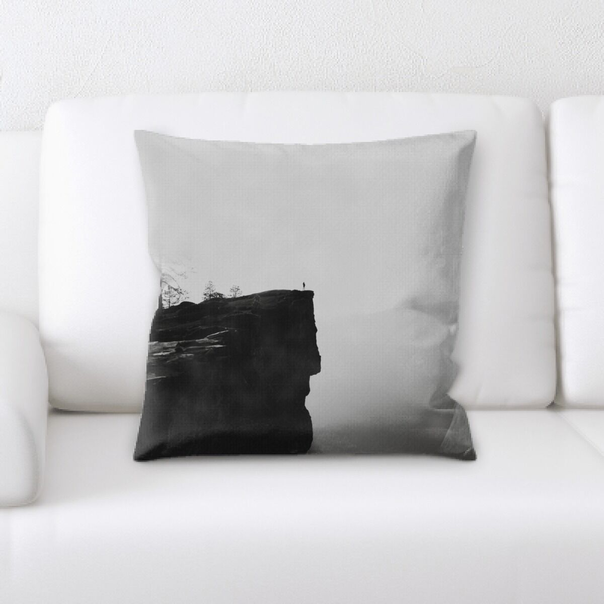 Erkson Mountain and Cliffs (20) Throw Pillow