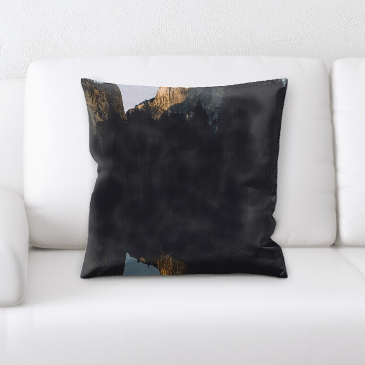 Mattingly Mountain and Cliffs (158) Throw Pillow