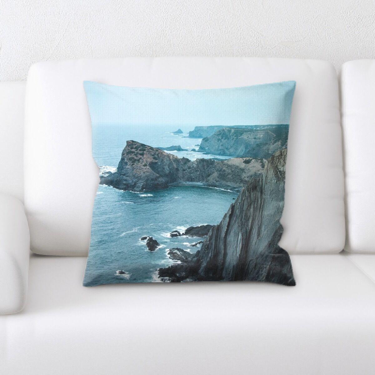 Silliman Mountain and Cliffs (117) Throw Pillow