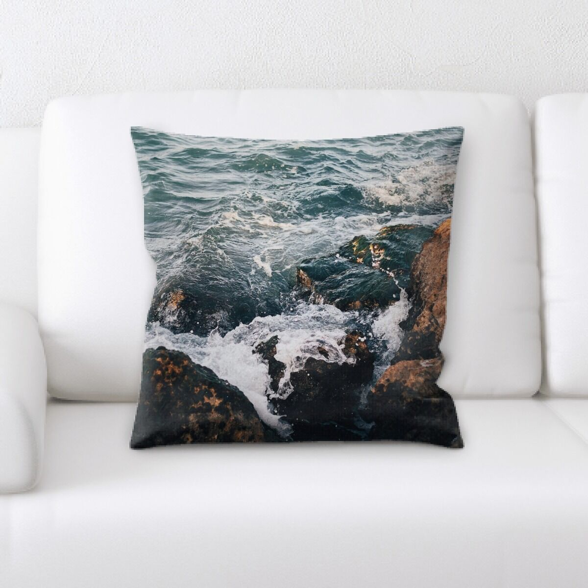 Skyline Mountain and Cliffs (119) Throw Pillow