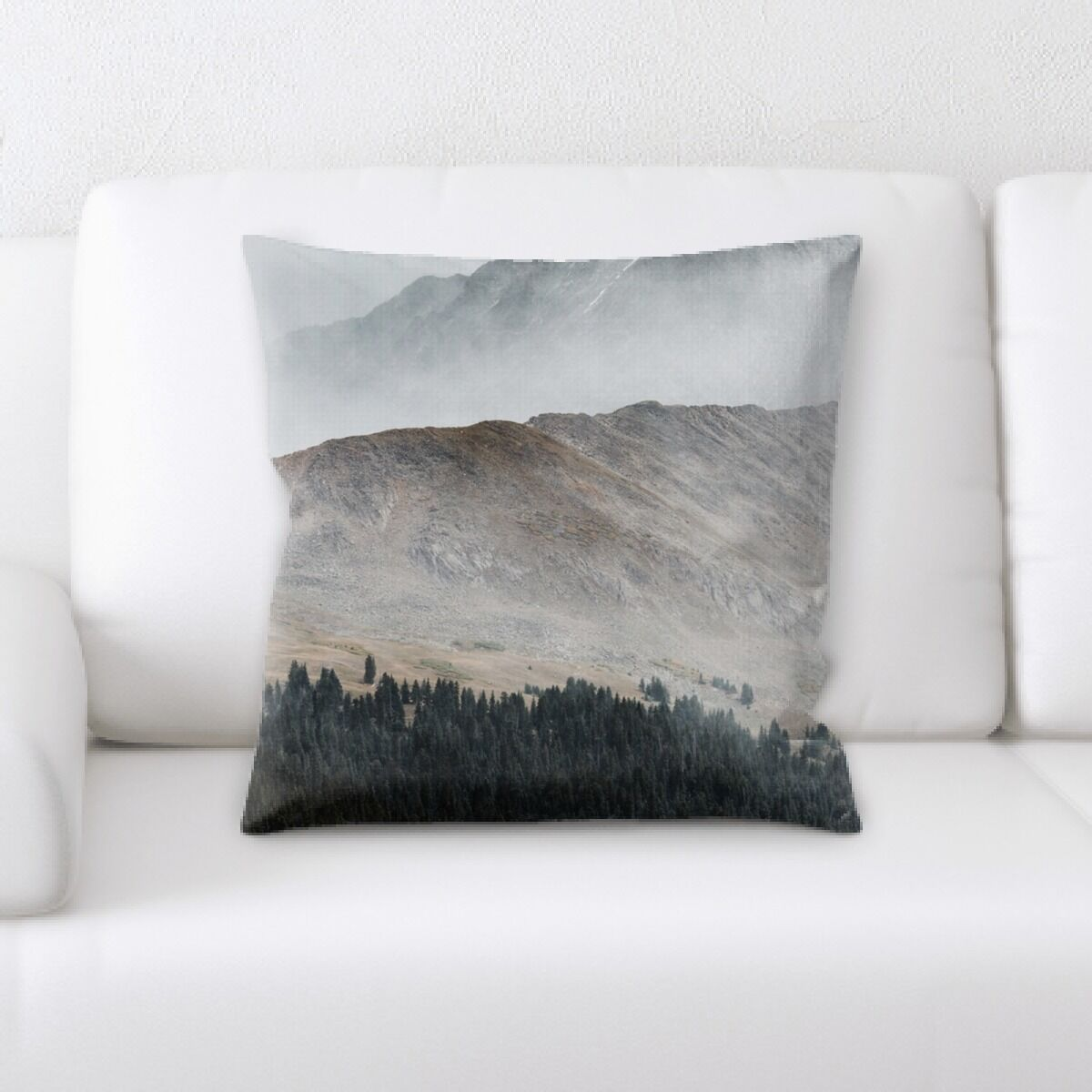 Southwood Mountain and Cliffs (125) Throw Pillow