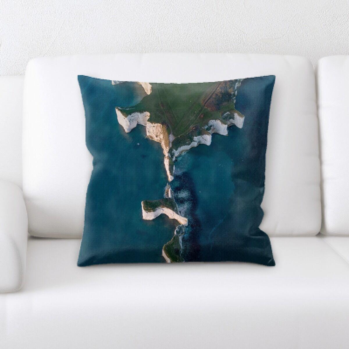 Kaan Mountain and Cliffs (49) Throw Pillow