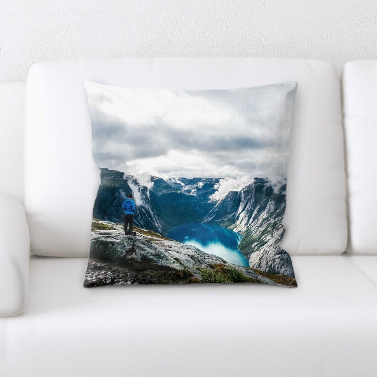 Meyers Mountain and Cliffs (183) Throw Pillow