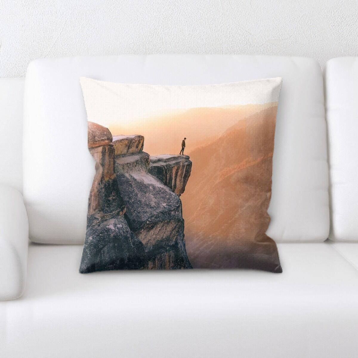 Eveloe Mountain and Cliffs (134) Throw Pillow