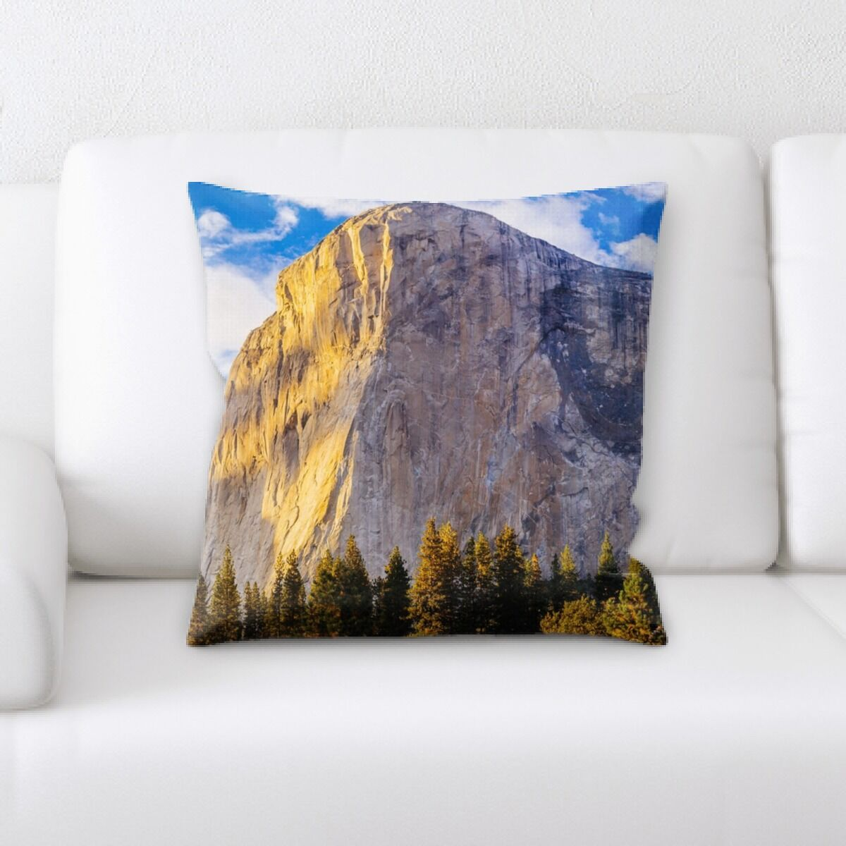 Oneridge Mountain and Cliffs (141) Throw Pillow