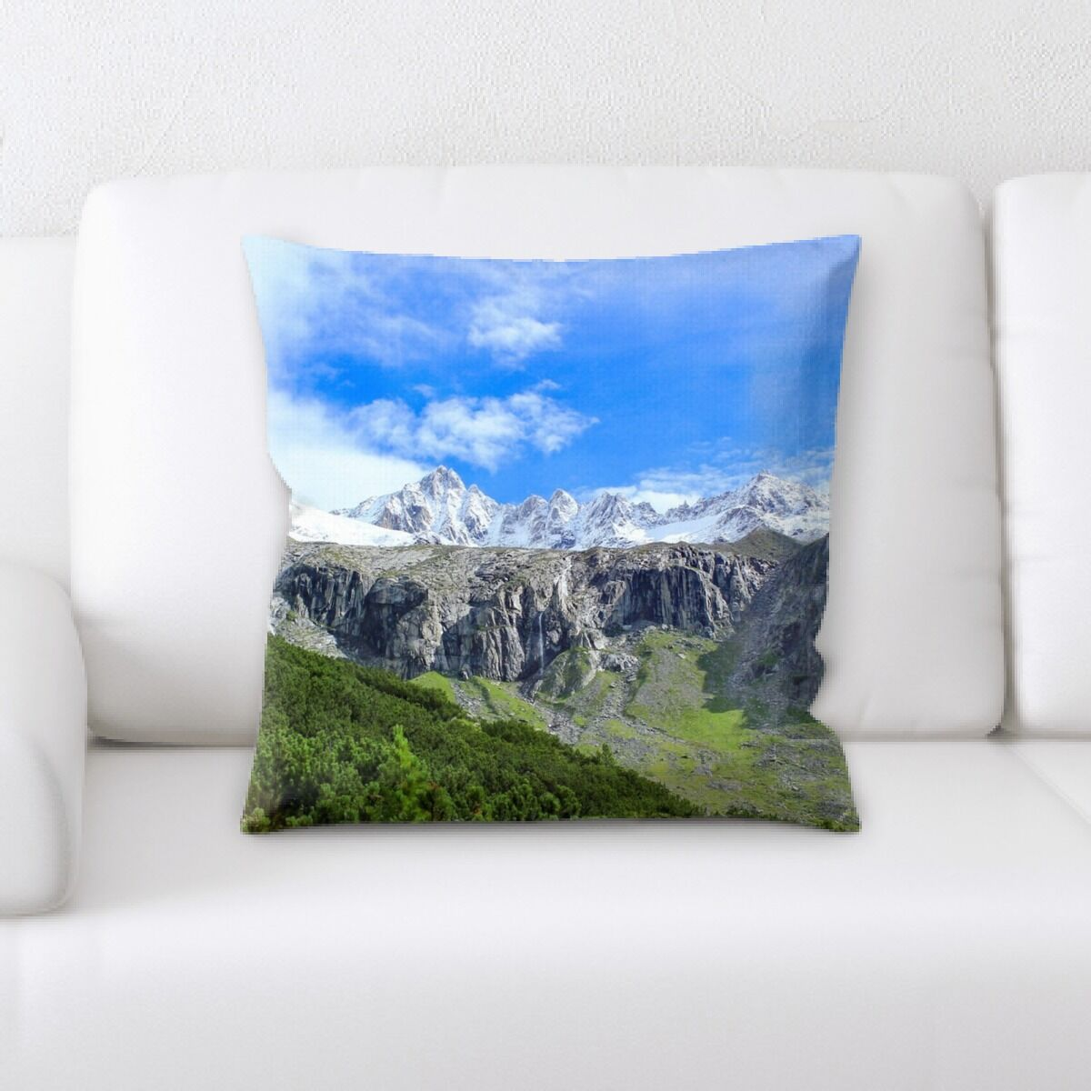 Langdon Mountain and Cliffs (73) Throw Pillow