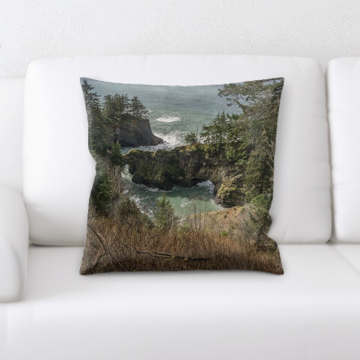 Bowling Mountain and Cliffs (195) Throw Pillow