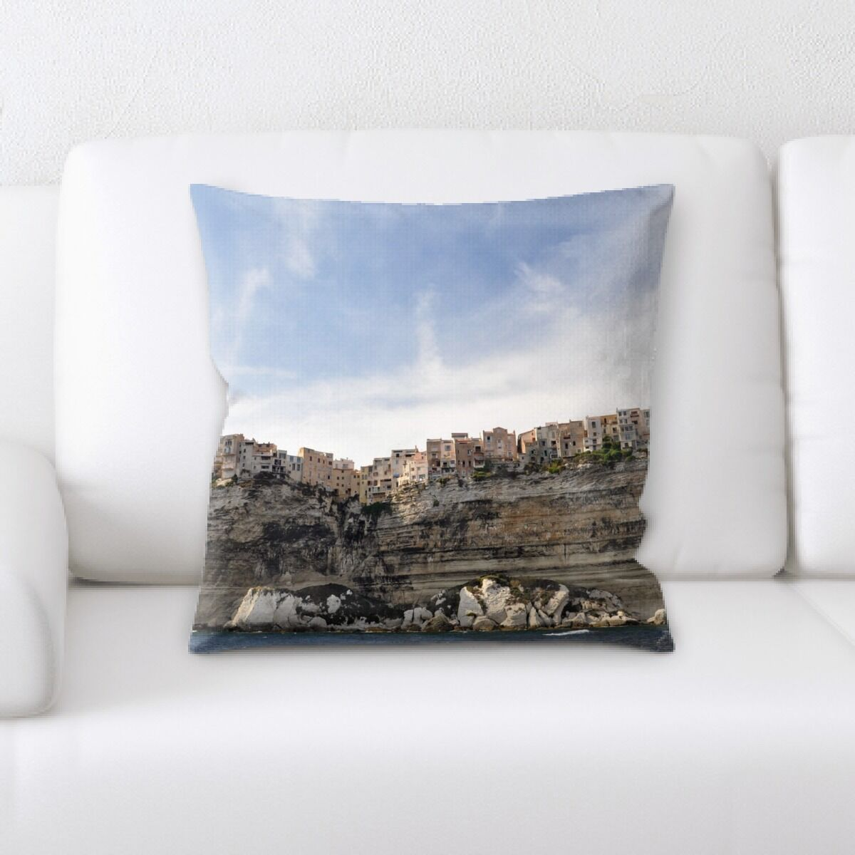 Brewer Mountain and Cliffs (204) Throw Pillow
