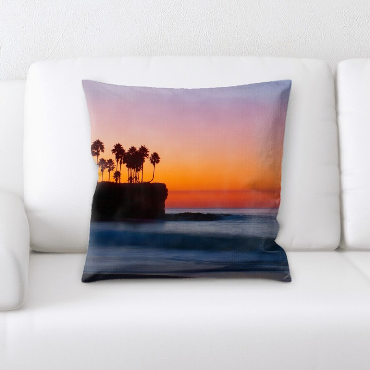 Bright Mountain and Cliffs (206) Throw Pillow