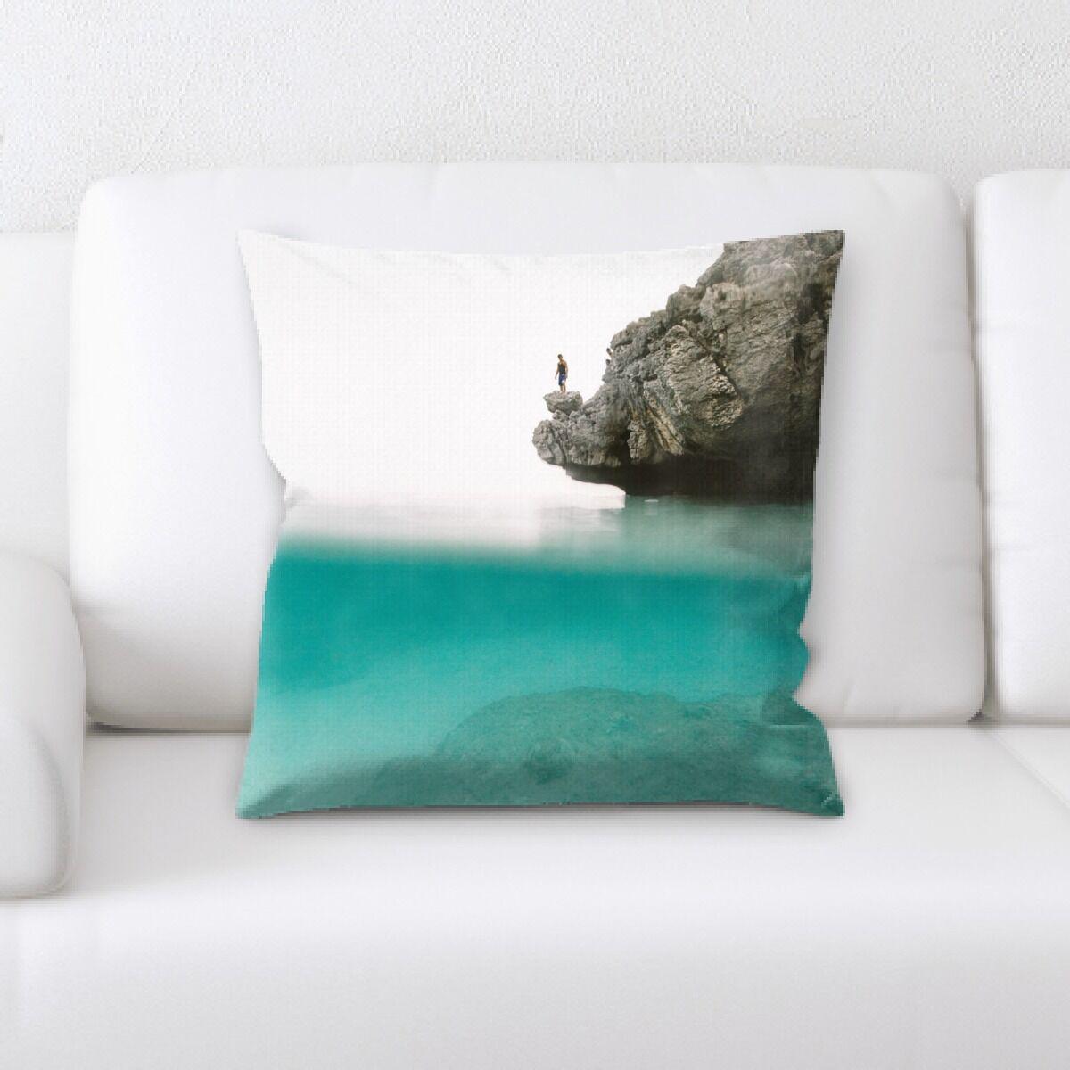 Ledya Mountain and Cliffs (86) Throw Pillow