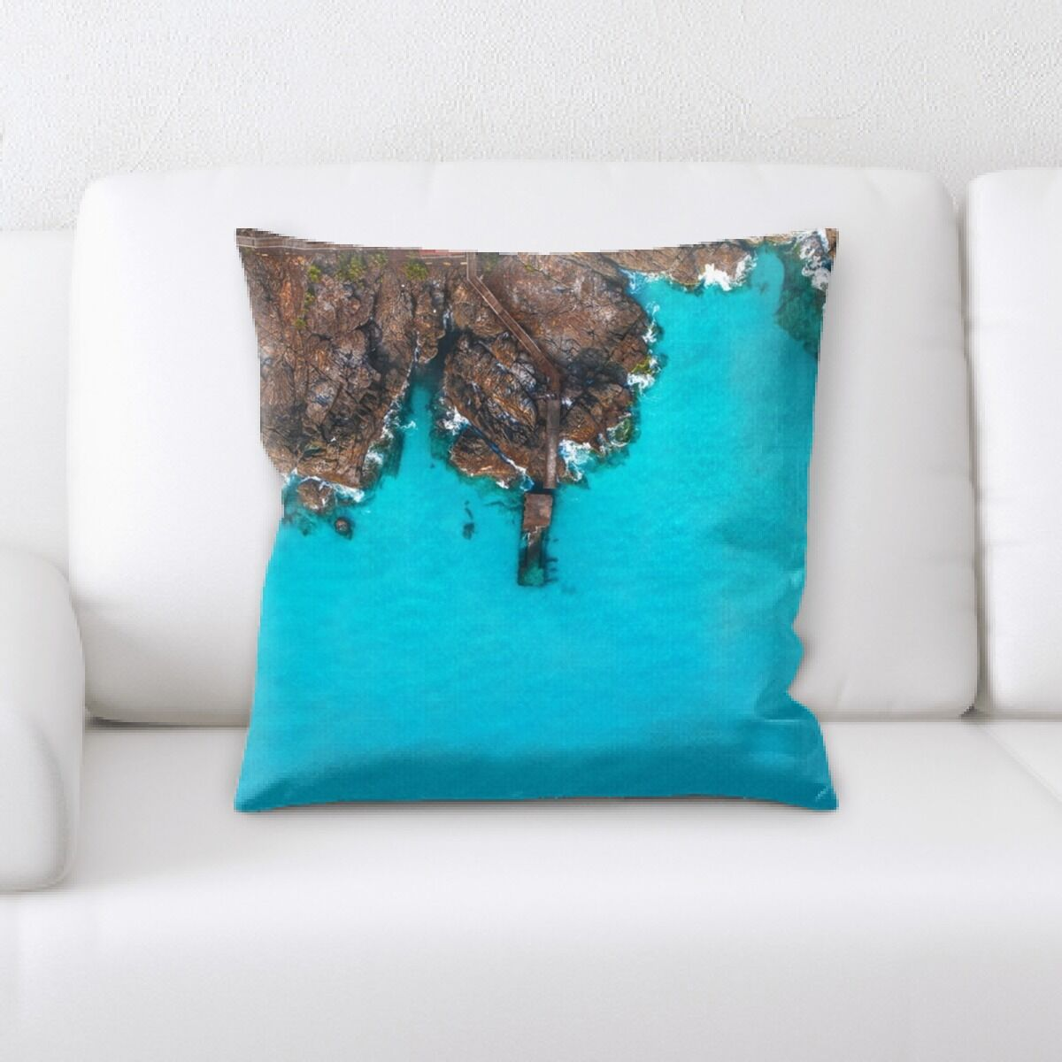 Leidesdorff Mountain and Cliffs (87) Throw Pillow