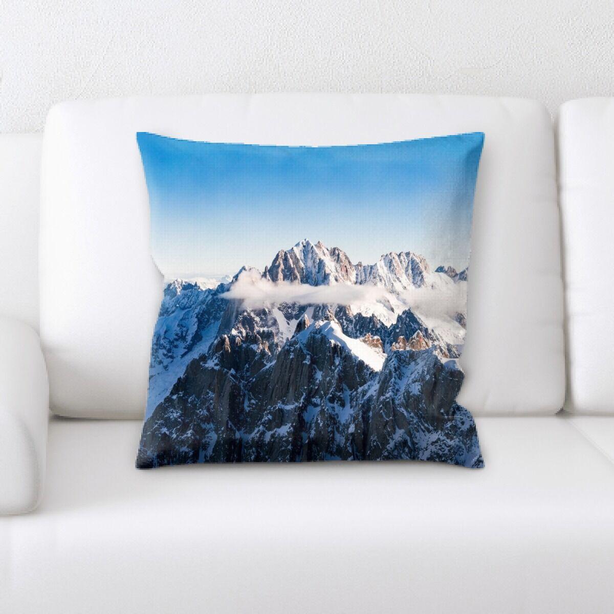 Burden Mountain and Cliffs (211) Throw Pillow