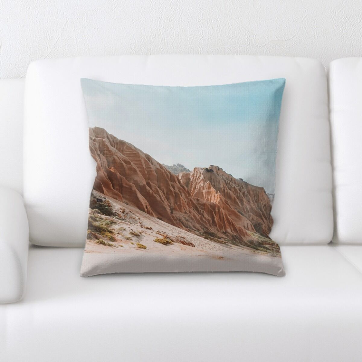 Call Mountain and Cliffs (224) Throw Pillow