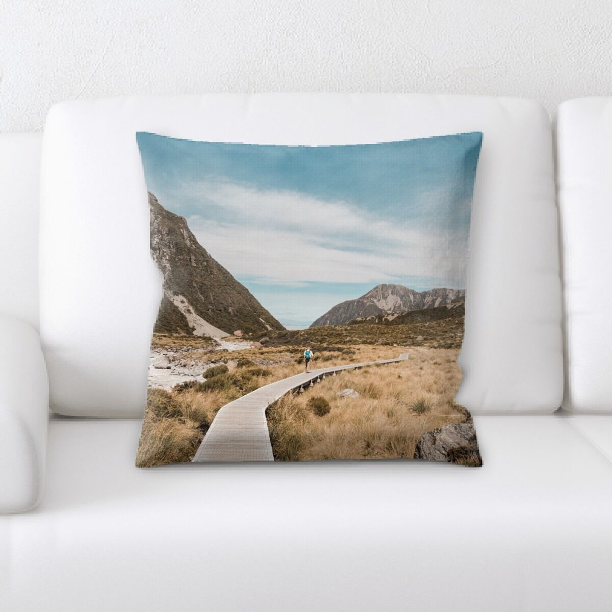 Carrier Mountain and Cliffs (232) Throw Pillow