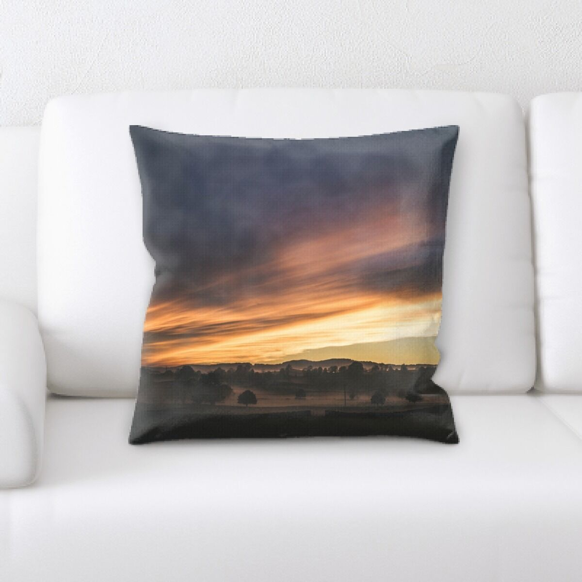 Land (61) Throw Pillow