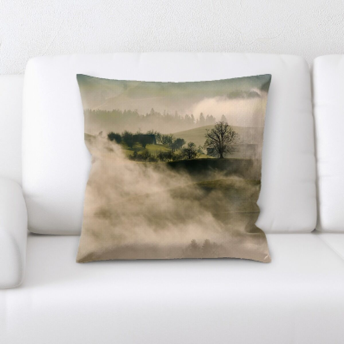 Land (72) Throw Pillow