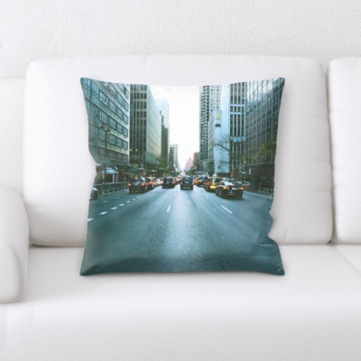 Ruffin New York City Shots (33) Throw Pillow