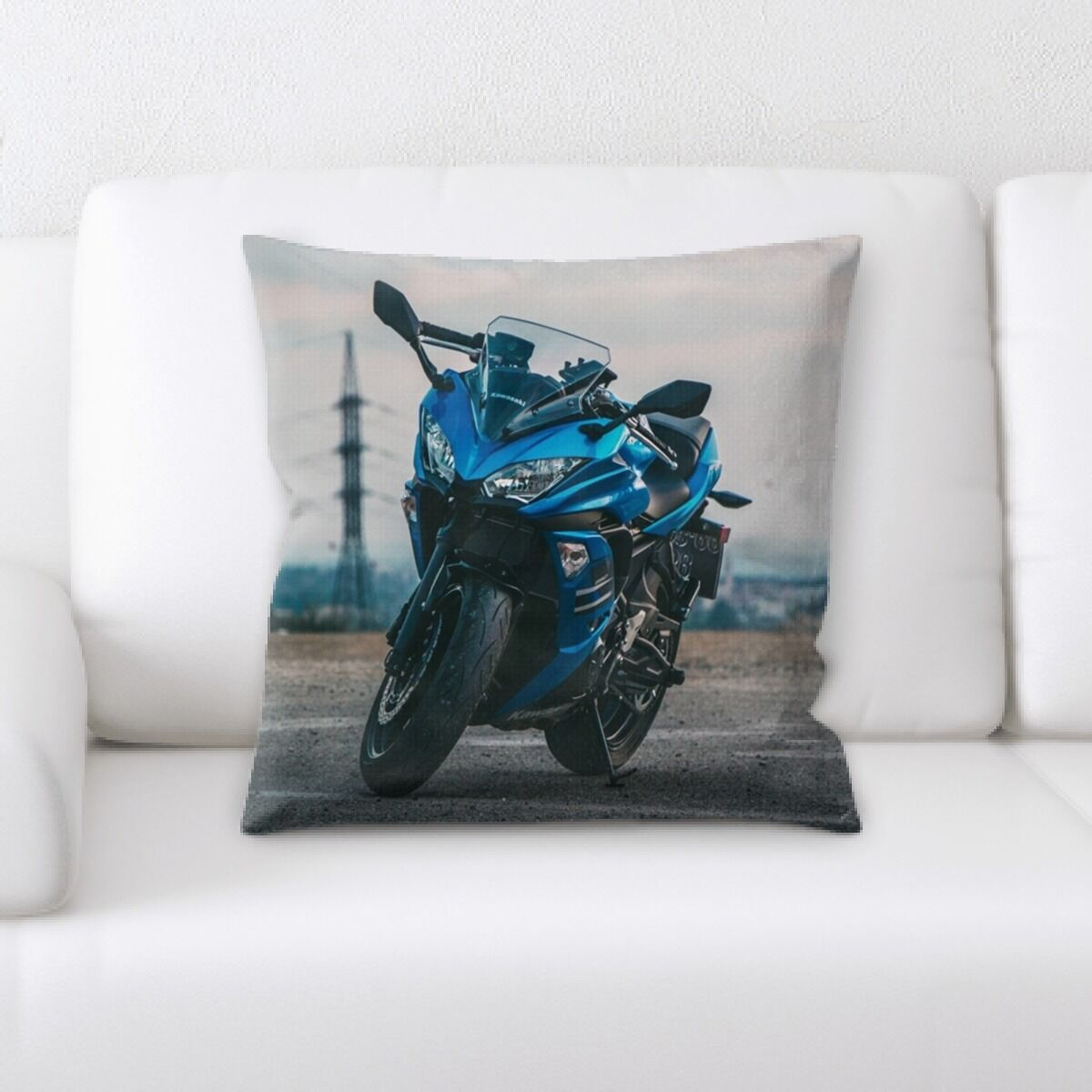 Strong Race Bike (2) Throw Pillow
