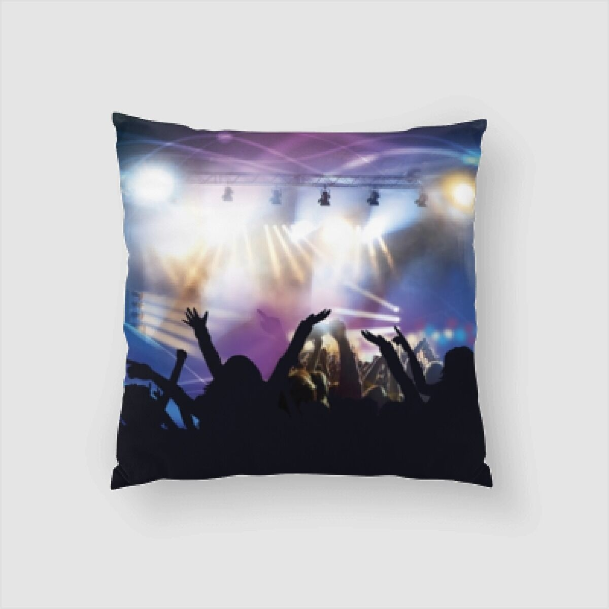 Peek Crowd (1) Throw Pillow