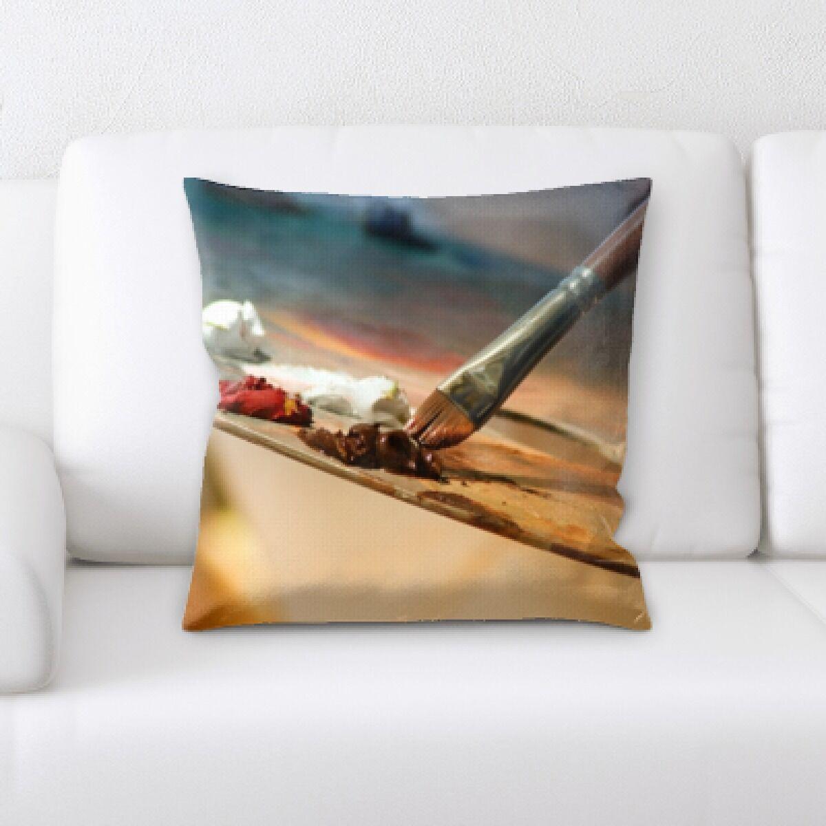 Godeus Oil Paint Throw Pillow