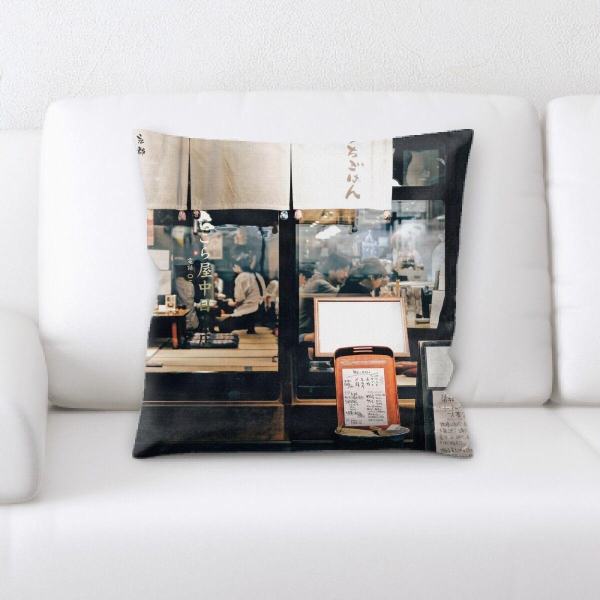 Gipson Restaurant & Cafe Life Style (68) Throw Pillow