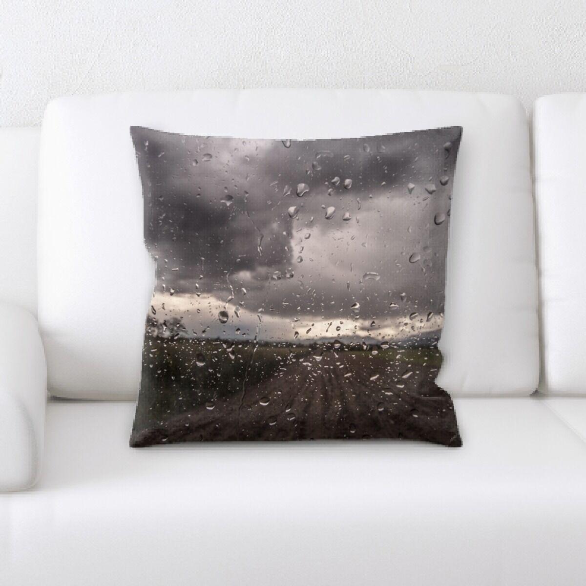 Lawler Rain on a Surface (1) Throw Pillow