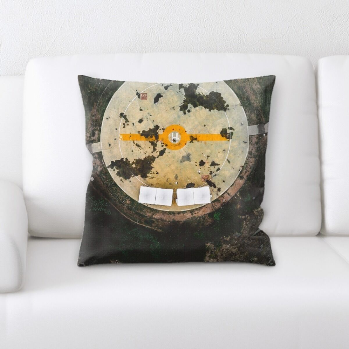 Union Old and Abandoned (89) Throw Pillow