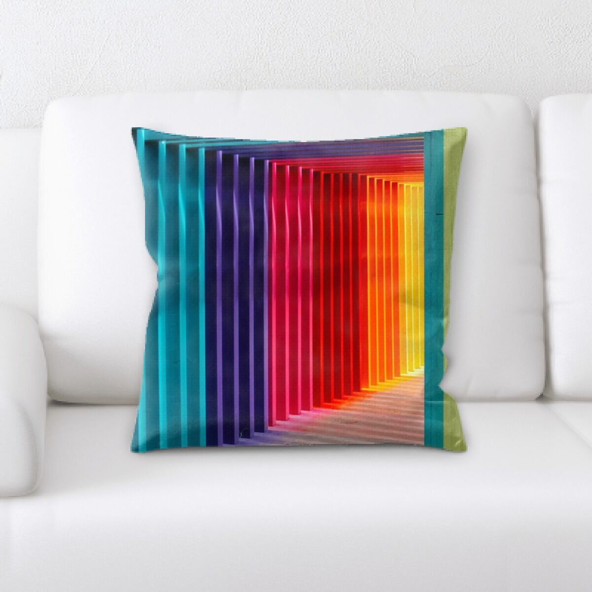 Rainbow (60) Throw Pillow