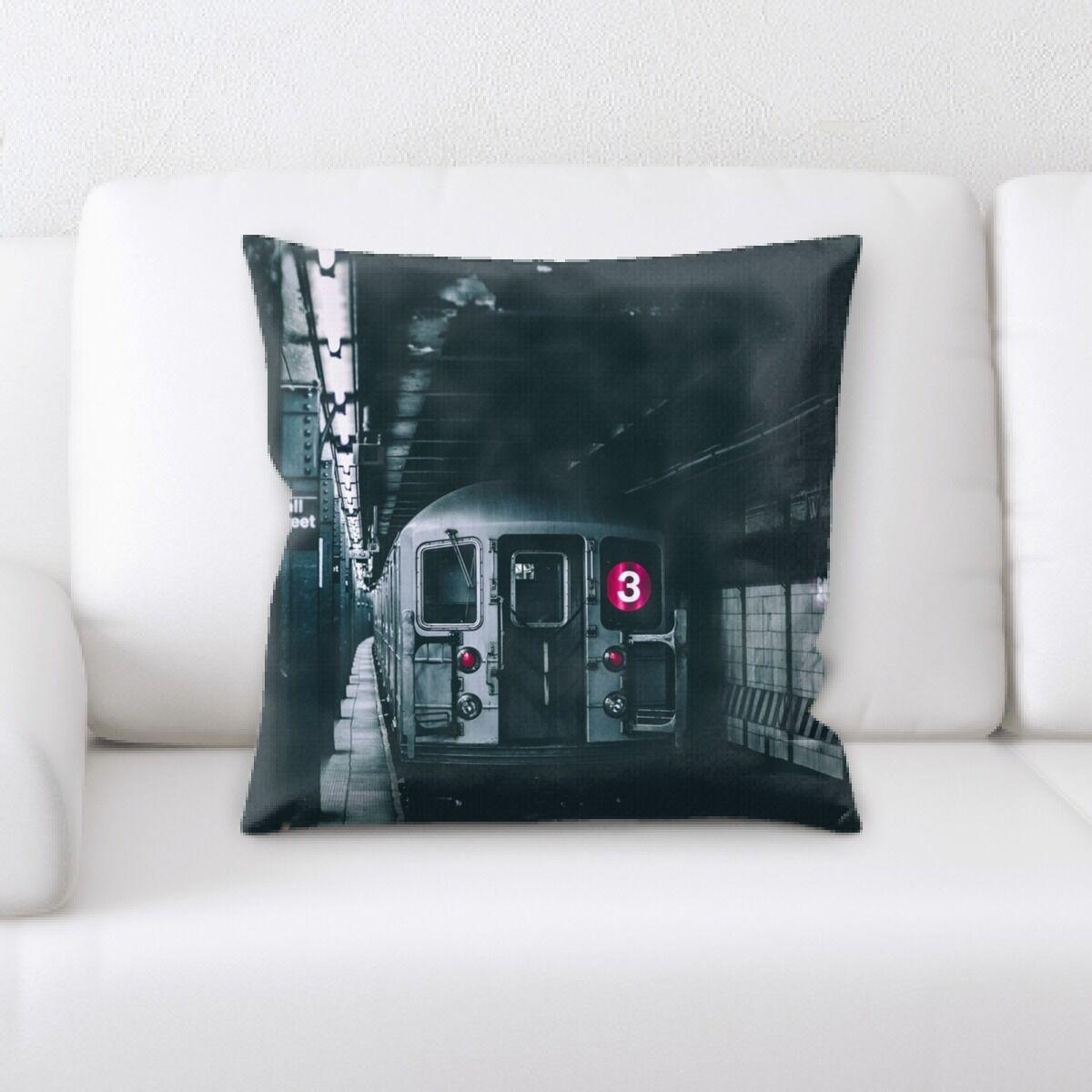 Train Experience (10) Throw Pillow