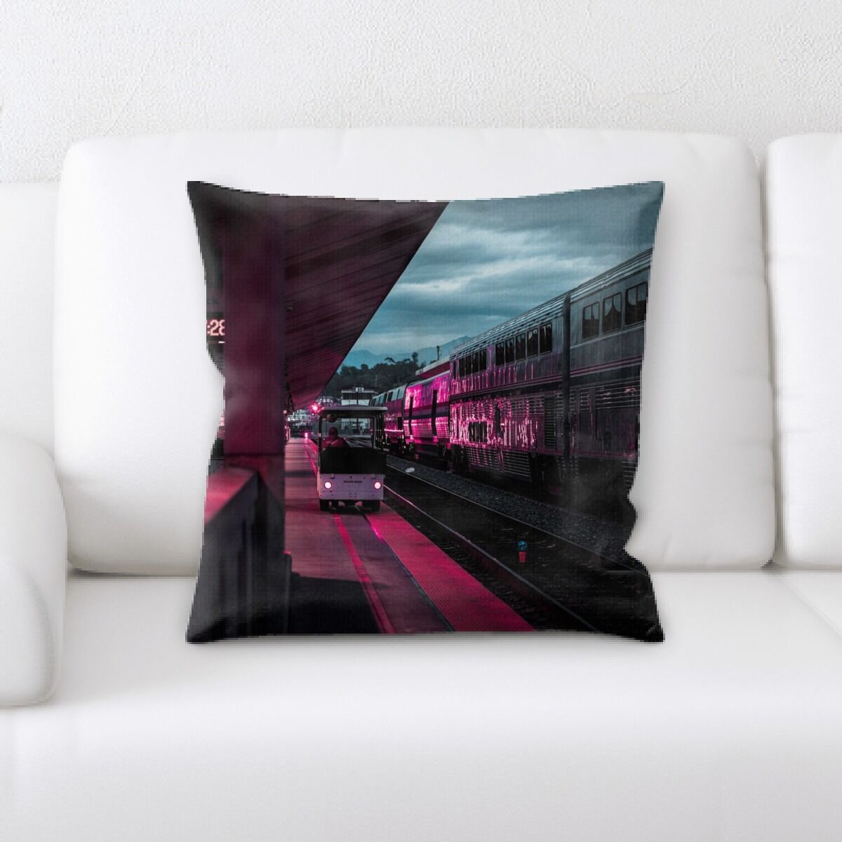 Train Experience (12) Throw Pillow