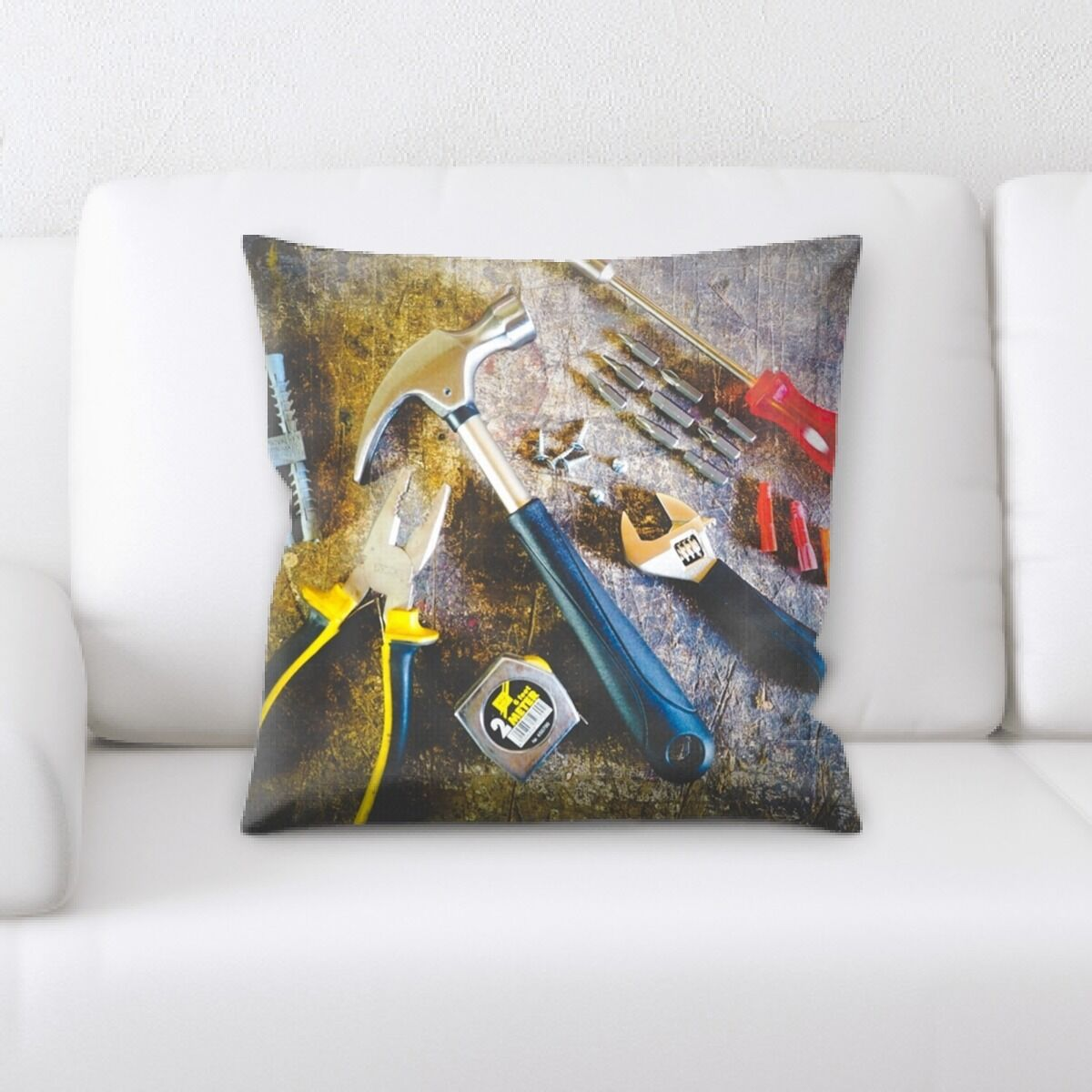 Pitts Tools Throw Pillow
