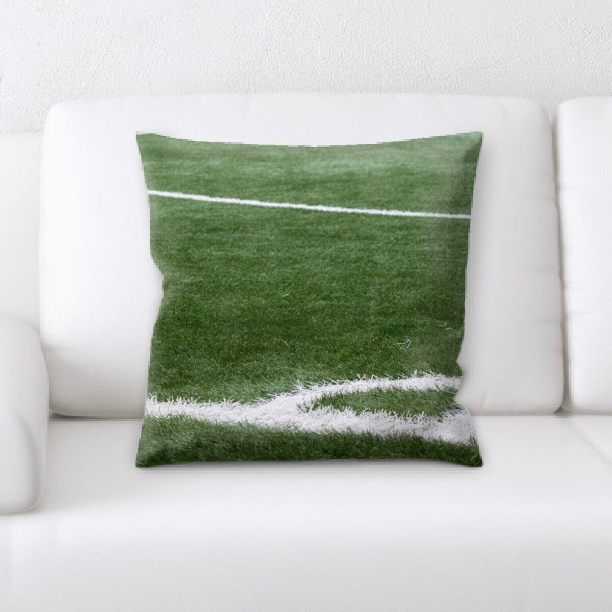 Langley Soccer Field (2) Throw Pillow
