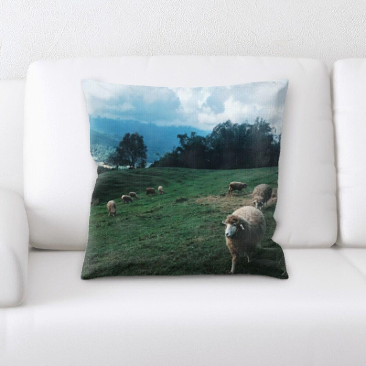 Laws Sheep (27) Throw Pillow