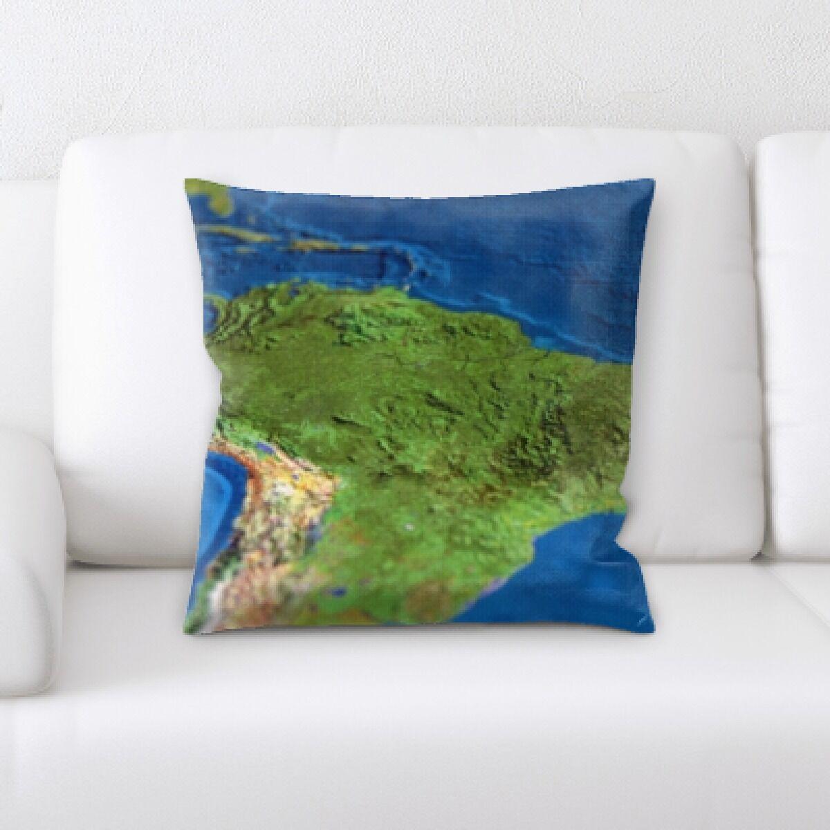Cross South America Throw Pillow