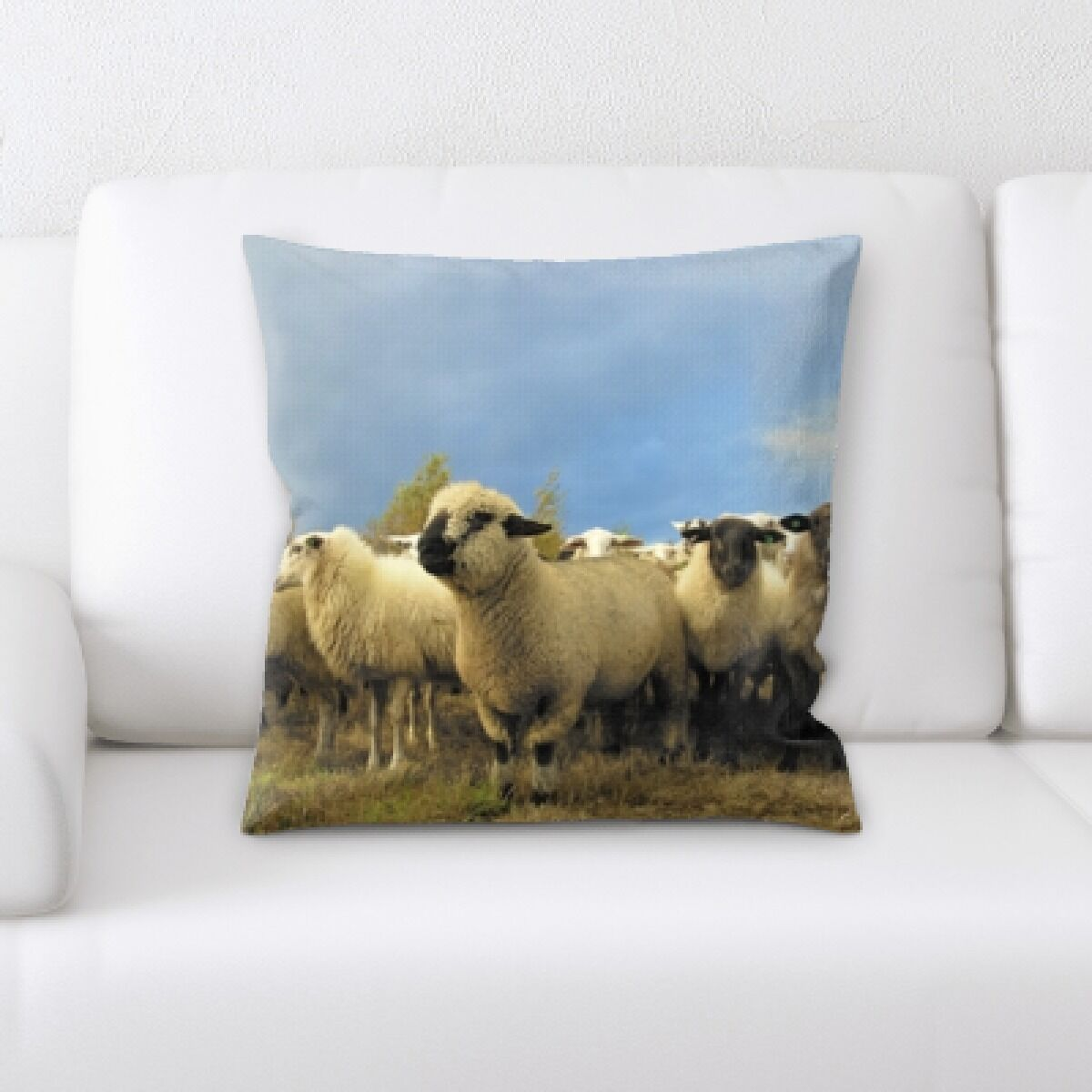 Laws Sheep (31) Throw Pillow
