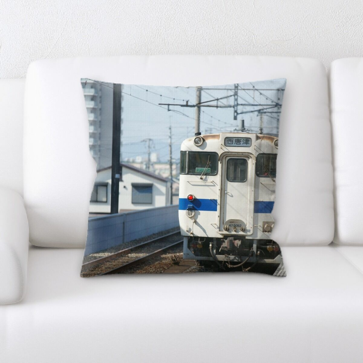Train Experience (101) Throw Pillow