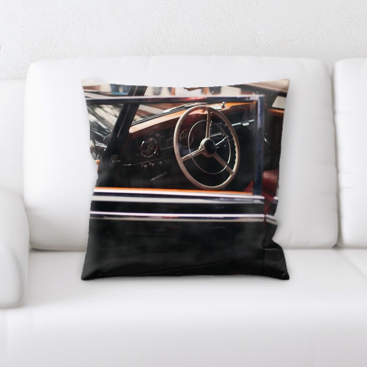Steering Wheel (14) Throw Pillow
