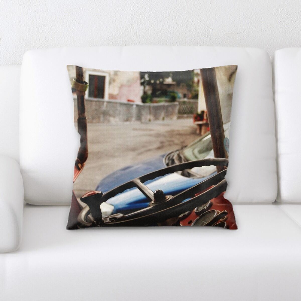 Steering Wheel (19) Throw Pillow