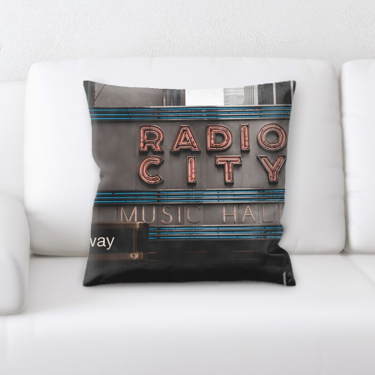 Jaycee Neon (96) Throw Pillow