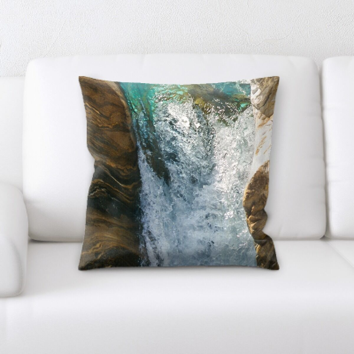 Waterfall (33) Throw Pillow