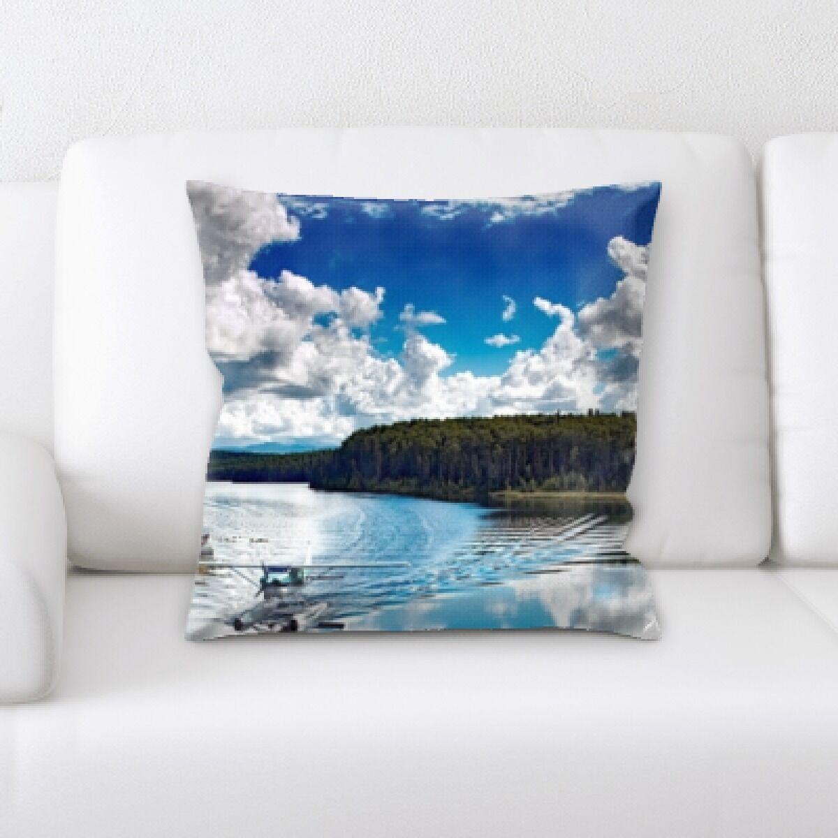 Grena Water Landing Throw Pillow